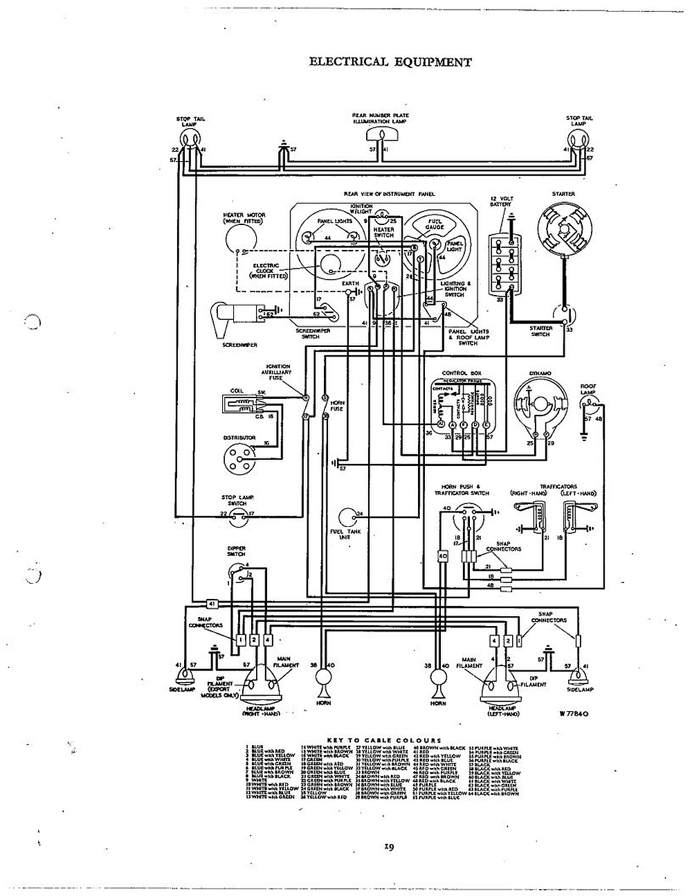 Tr250 Wiring Diagram Box 74 Spitfire Library Schematic